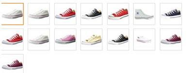 Estos son los colores de las converse all star