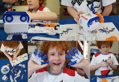 Building the meccano micronoid robot toy