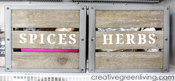 pantry organization ideas with crates