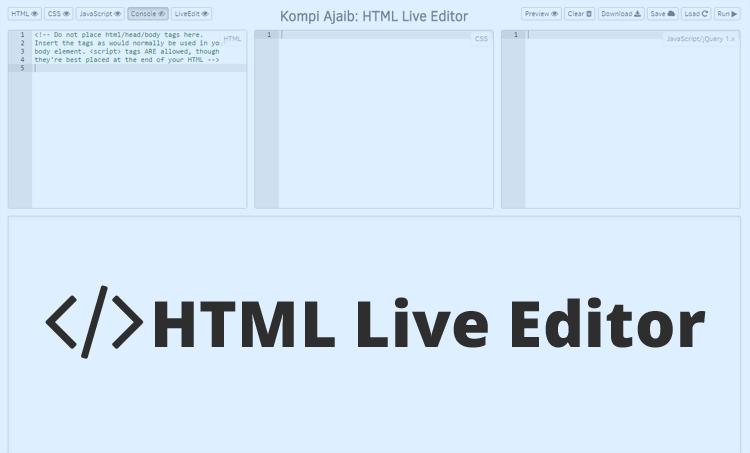 Membuat HTML Live Editor Dengan Hosting Google Drive