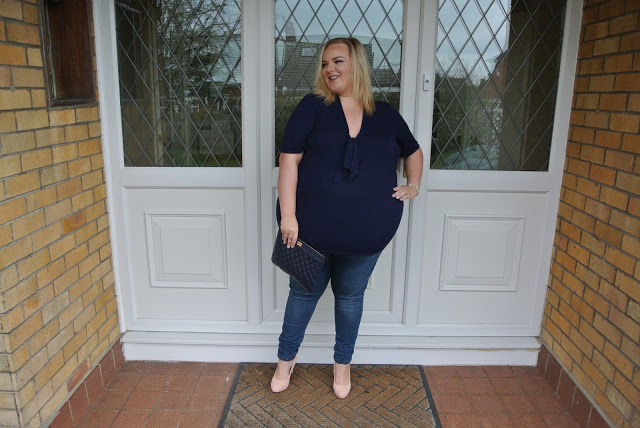 Scarlett and Jo Pussy Bow Jersey Top Brand Ambassador Plus Size Blogger WhatLauraLoves What Laura Loves