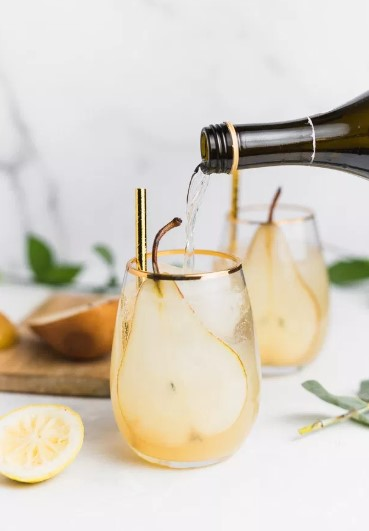 PEAR AND GINGER SPARKLERS