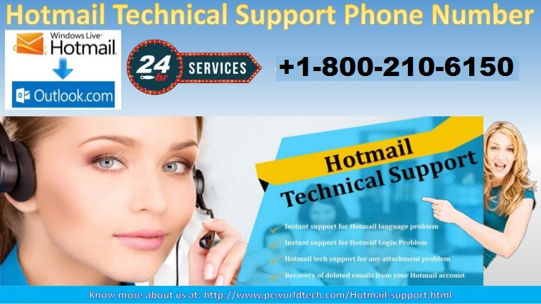 Hotmail Technical Support Phone Number +1-800-210-6150