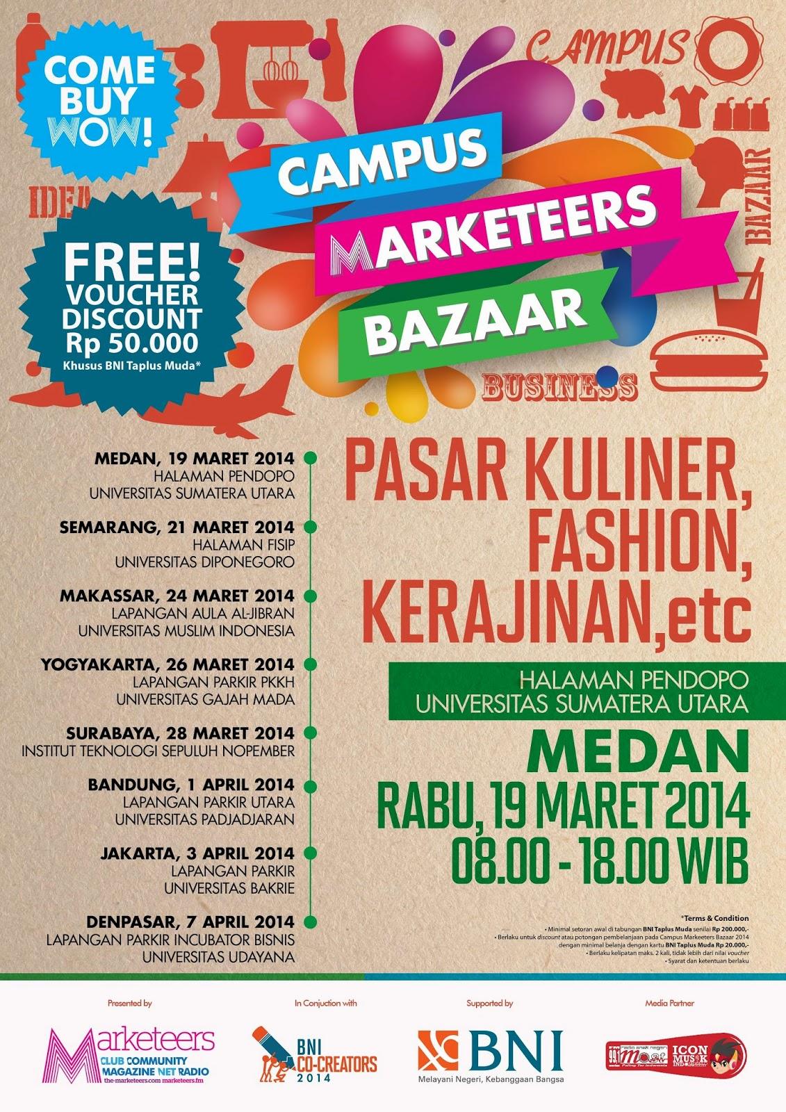 Campus Marketeers Bazaar di USU