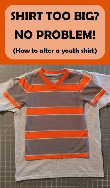 Shirt too big? No problem! How to alter an oversized youth shirt