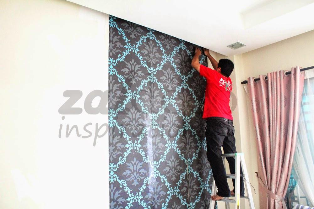 Pemasangan Kertas Dinding Zaldeco Di Bukit Saujana