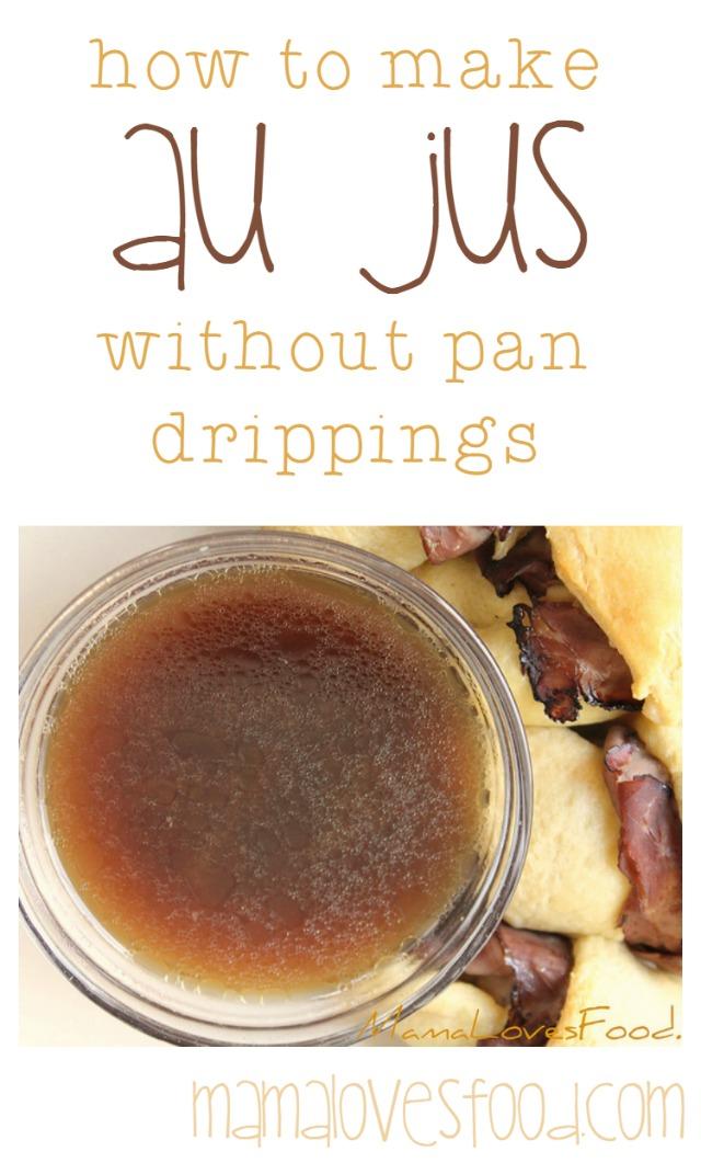 Au jus recipe for pork