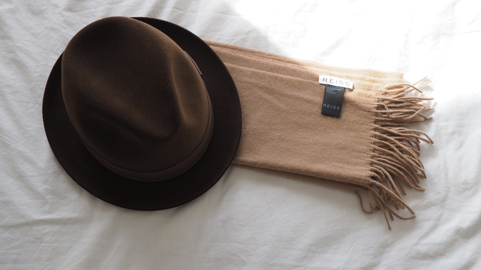 Salman Dean Tom Smart Trilby Hat & Reiss Cashmere Scarf