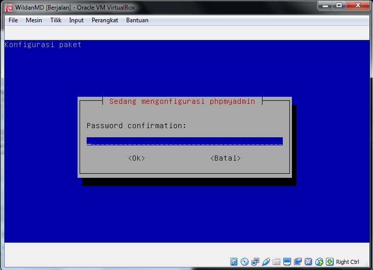 cara konfigurasi MySql Server dan Phpmyadmin di debian