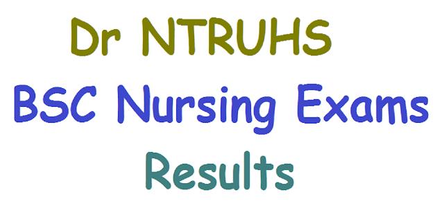 Dr NTRUHS,BSC Nursing Exams results,http://ntruhs.ap.nic.in/Results.htm