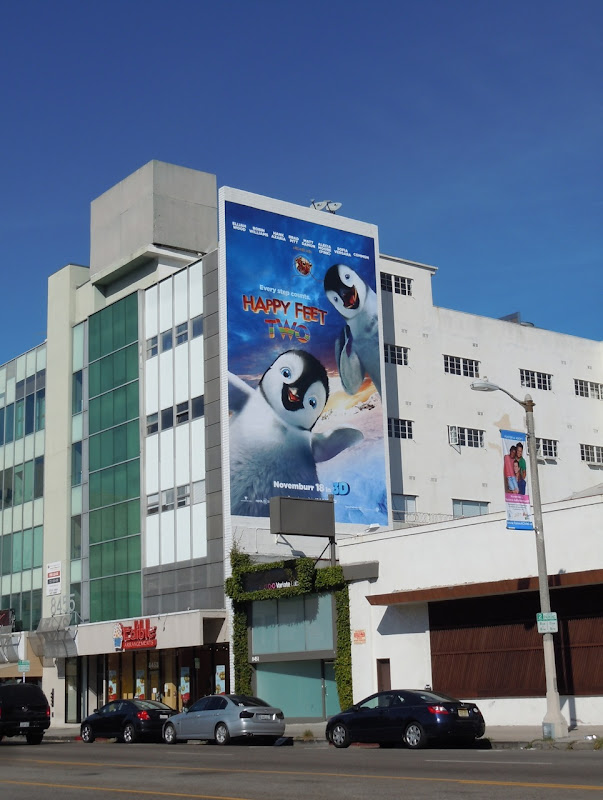Giant Happy Feet Two billboard