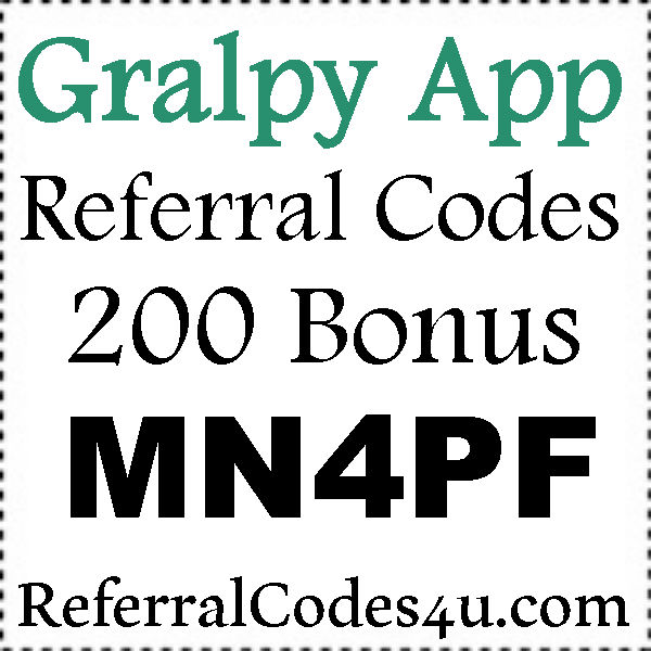 Gralpy Referral Code 2016-2017, Gralpy Refer A Friend, Gralpy Sign Up Bonus