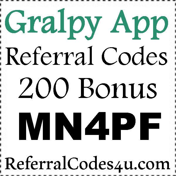 Gralpy Referral Code 2016-2021, Gralpy Refer A Friend, Gralpy Sign Up Bonus