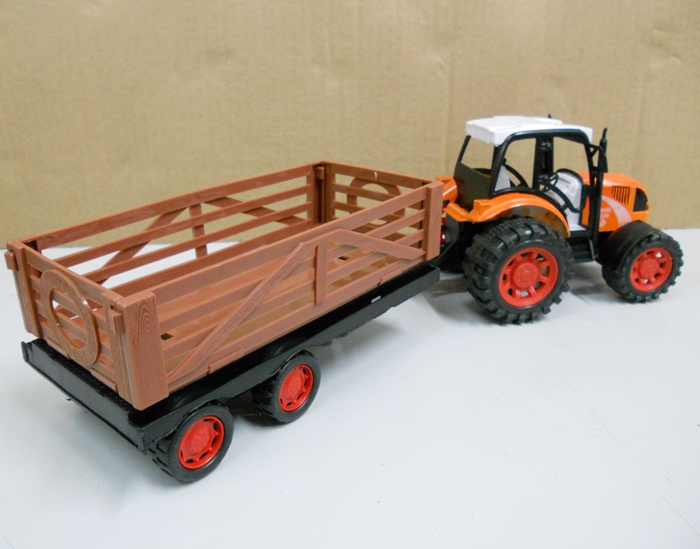 Toy Tractor Trailer Trucks : Bongbongidea toy farmer tractor truck with trailer cm