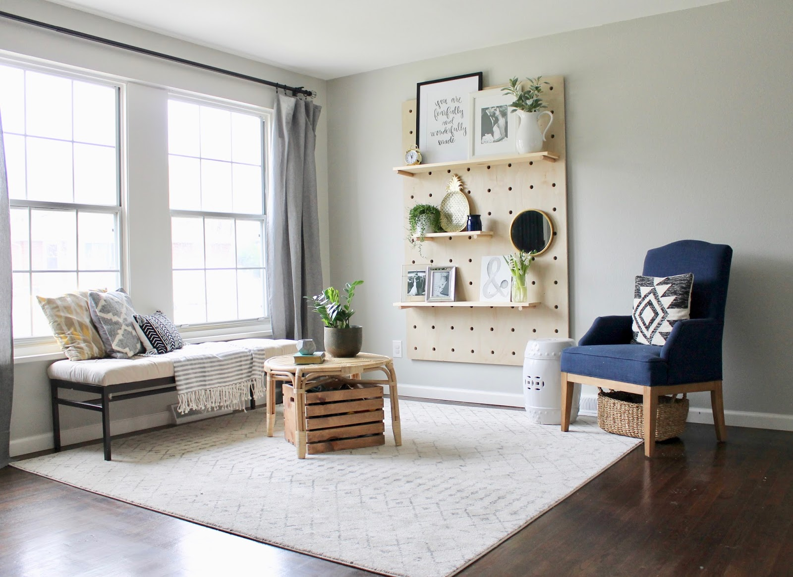 Wonderfully Made: One Room Challenge {W6}: DIY Giant Pegboard