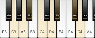 Harmonic minor scale on Key G