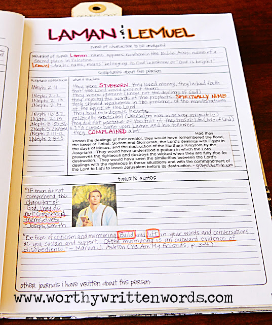 One of a Kind Scripture Journal Character Analysis Templates - character analysis template
