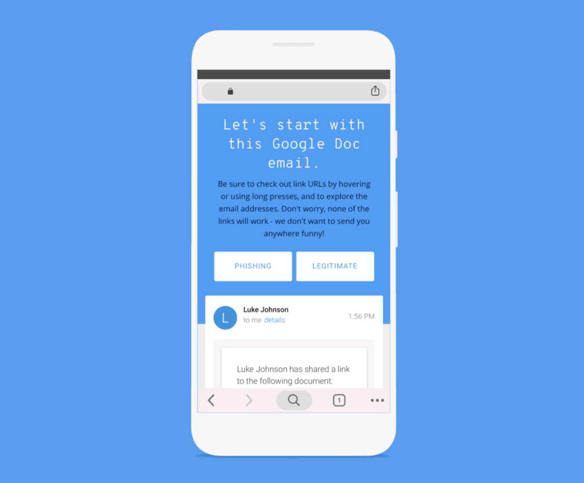 This new tool by Google will help you test your ability to identify phishing emails