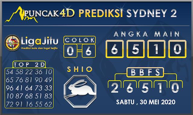 PREDIKSI TOGEL SYDNEY2 PUNCAK4D 30 MEI  2020