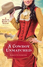 Book cover A Cowboy Unmatched by Karen Witemeyer