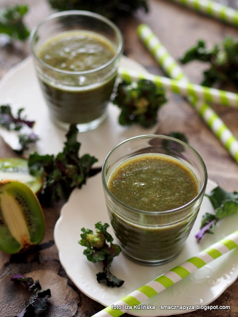 zielone koktajle , samo zdrowie , smoothie , napój z warzyw i owoców , kiwi , kalerosse , zmiksowane , zielono mi , witamin