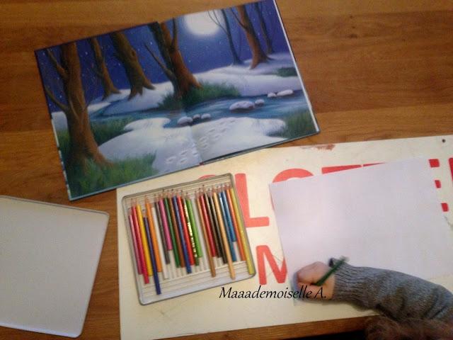    Activité : Paysage d'hiver d'après les illustrations d'un album (L'art est un jeu d'enfant # 10)