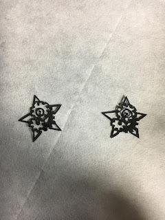 歯車星の切り絵
