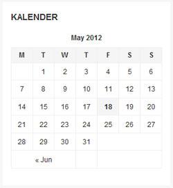 widget kalender