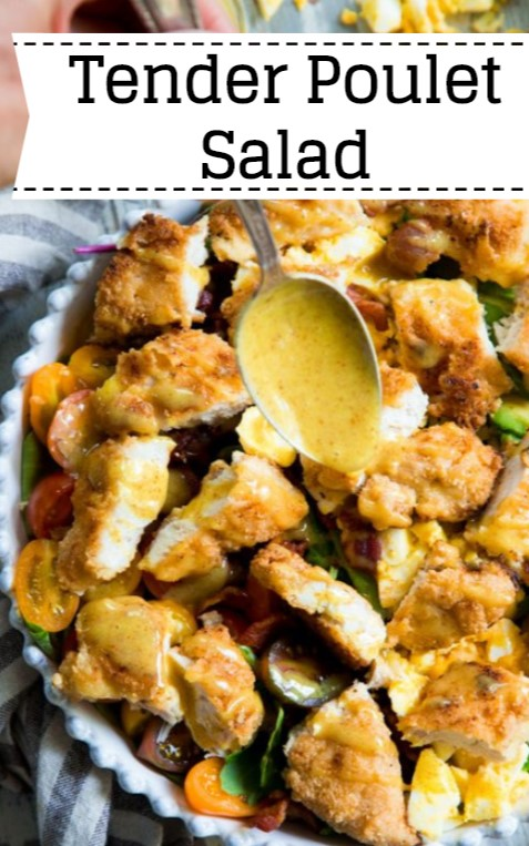 Tender Poulet Salad With Honey Mustard