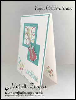 stampin' up! UK sale-a-bration epic celebrations bubble over guitar teenager musician awesome stitched shapes framelits
