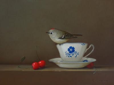 bird still life painting