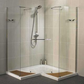 Jual Kaca Shower Penyekat Kamar Mandi Minimalis Batu