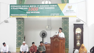 Pemprov Sulut Salurkan 1000 Paket Ramadhan Pada Peringatan Nuzurul Quran 1439H