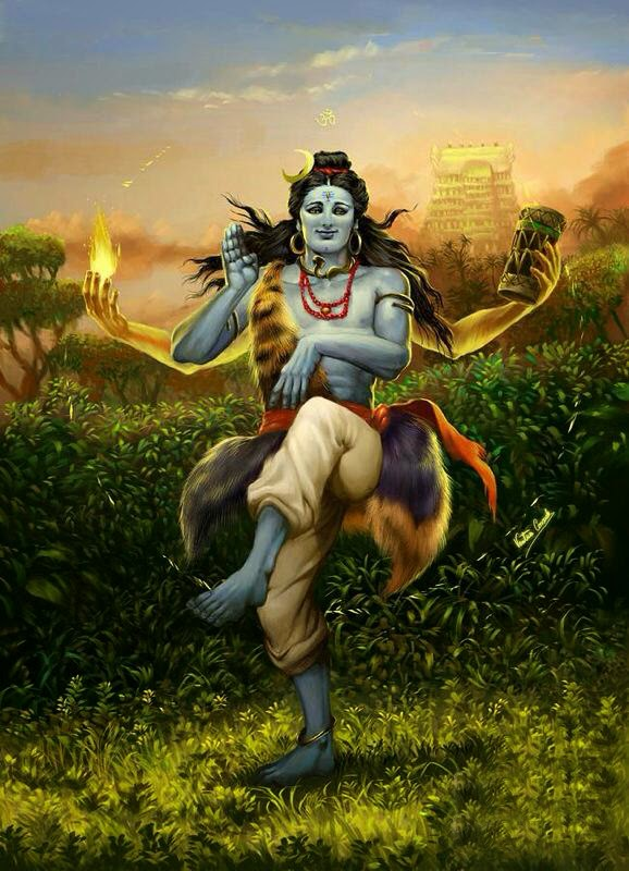 shivji doing tandav nrutya