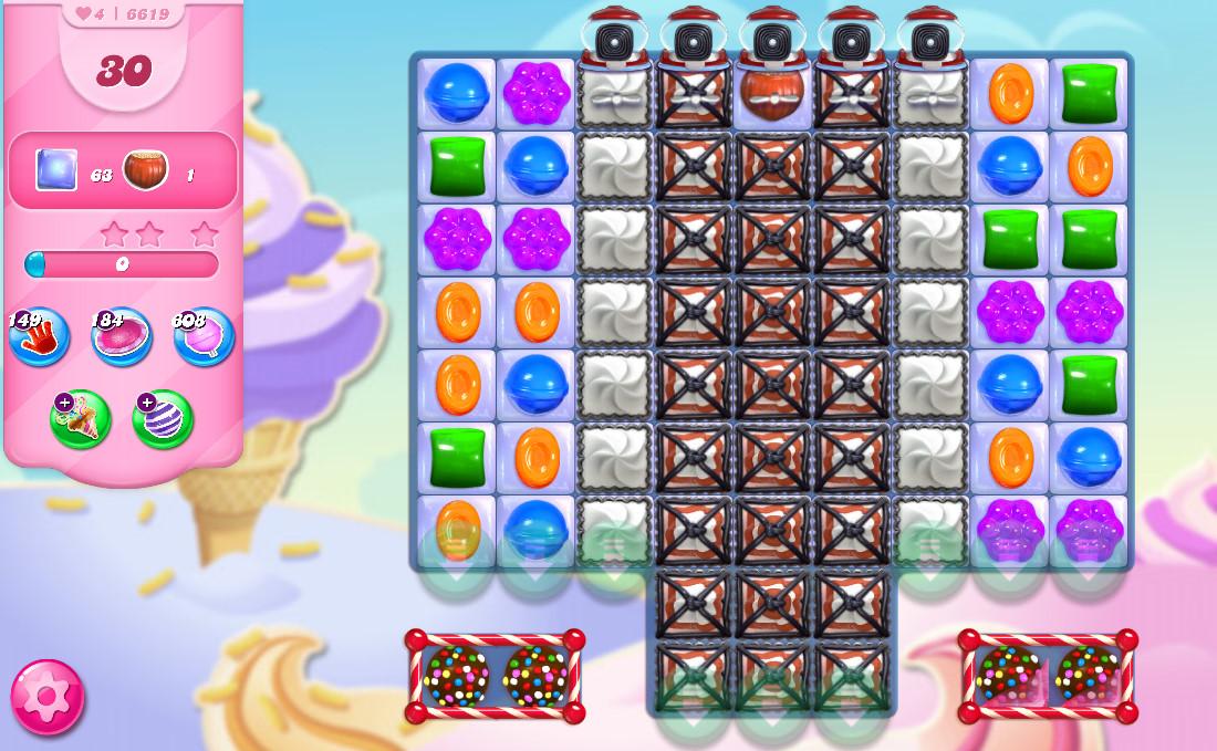 Candy Crush Saga level 6619