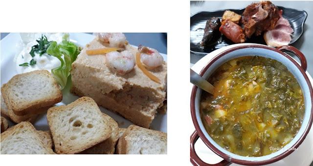 Paté de centollo y pote asturiano de Sidrería Narcea, Cangas del Narcea