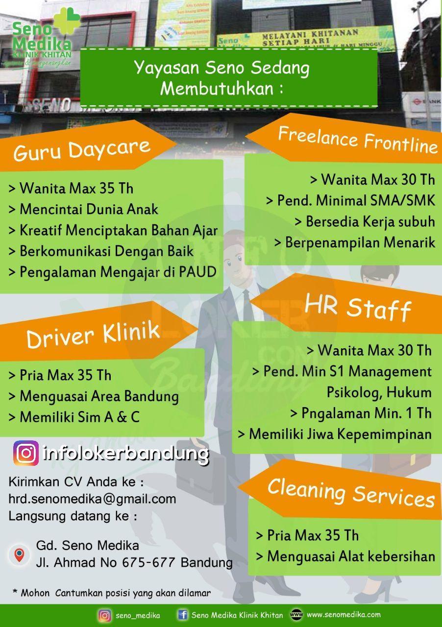 Lowongan Kerja Yayasan Seno ( Seno Medika Klinik Khitan ) Bandung November 2017