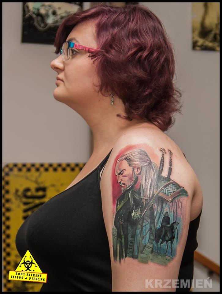 Wiedźmin Od Krzema Body Extreme Tattoo Piercing Wrocław