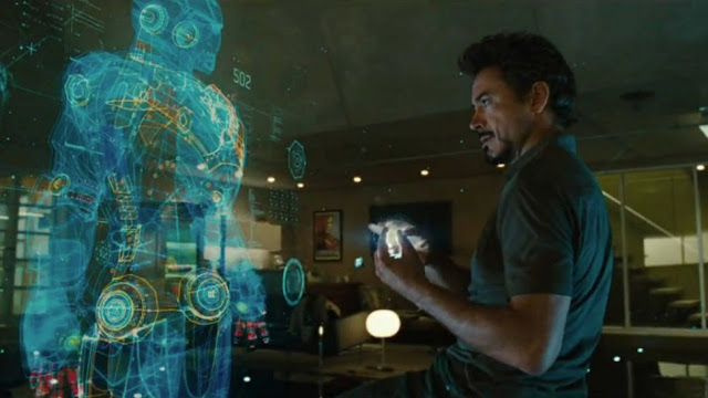 iron man movie using augmented reality