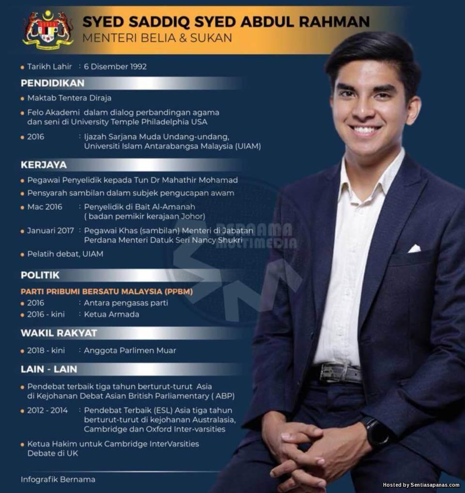 Syed Saddiq Menteri Paling Muda Malaysia Memadam Rekod Najib