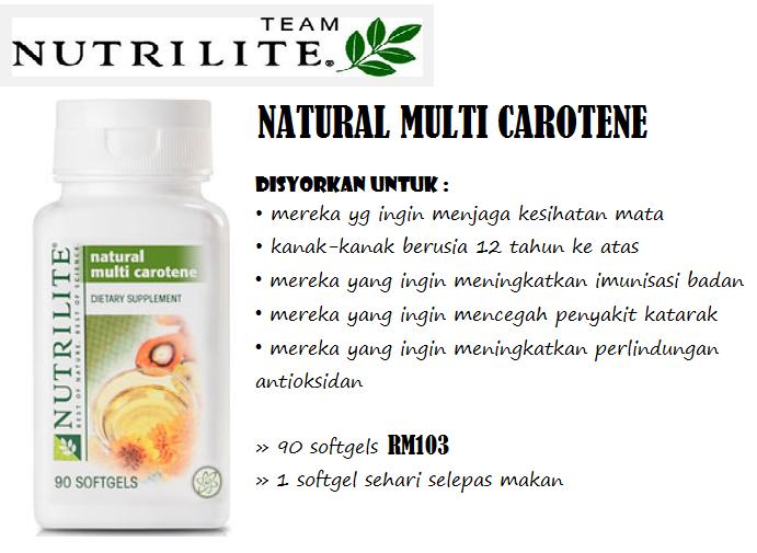 Tác dụng của Nutrilite Natural Multi Carotene
