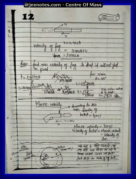 Center Of Mass Notes 2
