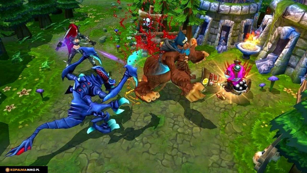 widok z góry na grę League of Legends