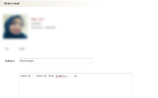 Mencoba mengirim email ke member meetra dengan akun gratis