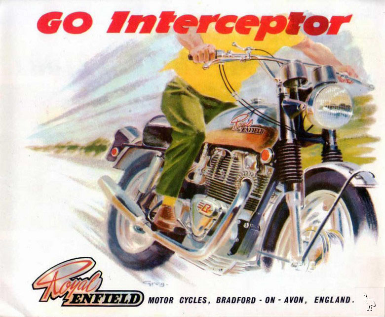 Motorcycle advertisement.