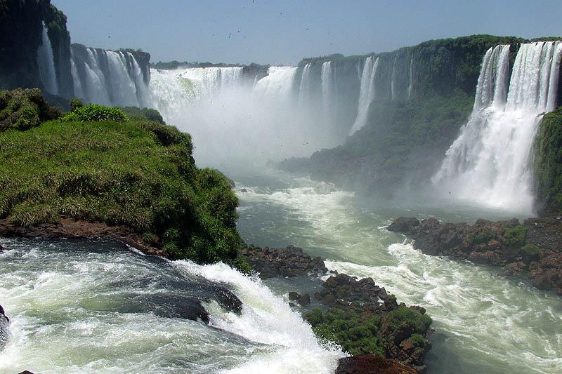 Iguazu Falls Wallpaper Full Picture Foz Do Iguacu Brazil