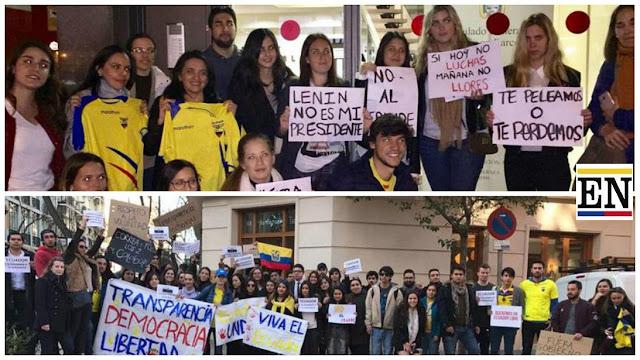 migrantes ecuador en españa protestan