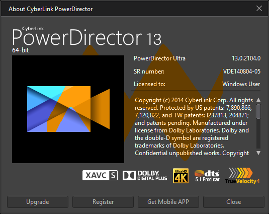 CyberLink PowerDirector Ultra 13