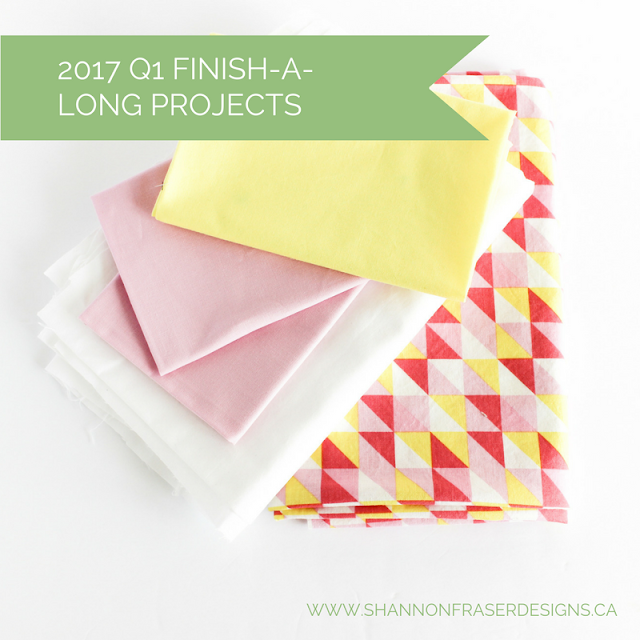2017 Q1 Finish-A-Long Proposed Projects | Shannon Fraser Designs | Modern Quilting | WIP