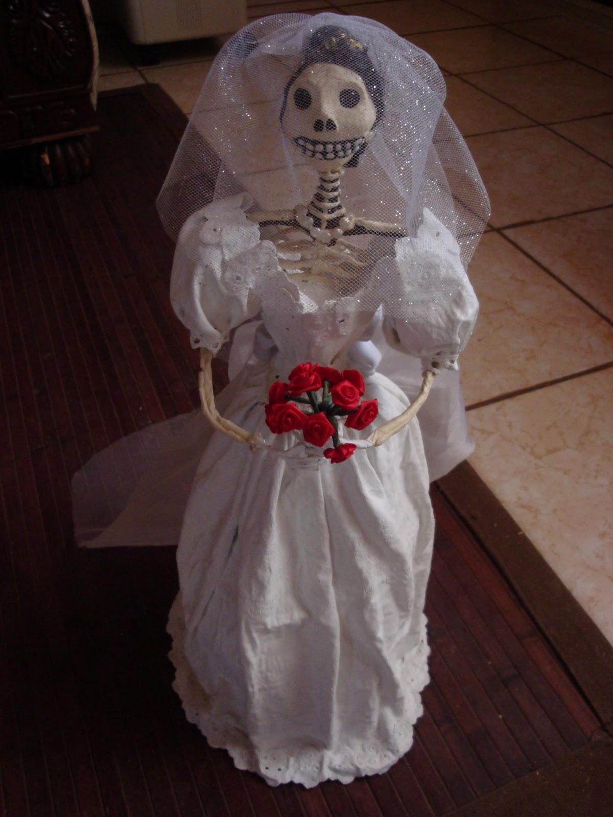 Imagenes de catrinas vestidas de novia